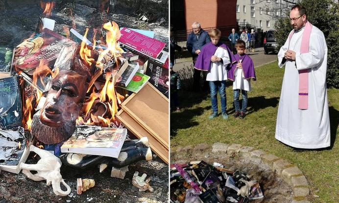 Ιερείς στην Πολωνία έκαψαν βιβλία για να καταπολεμήσουν την μαύρη μαγεία!
