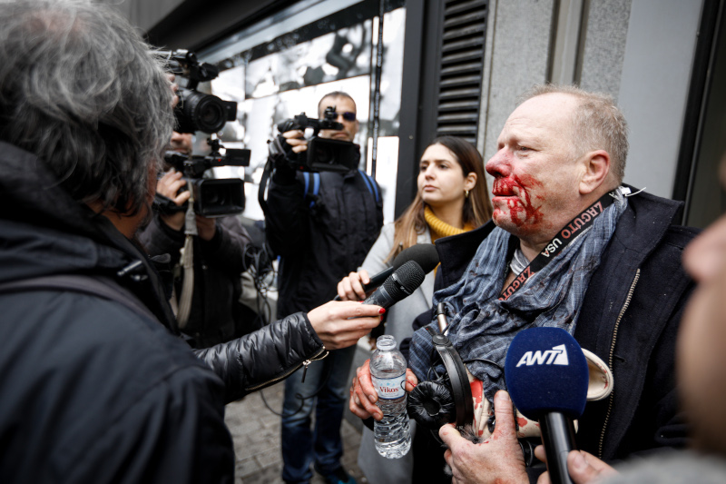 Ξυλκοπήθηκε άνανδρα δημοσιογράφος  σε ακροδεξιά συγκέντρωση στο Σύνταγμα